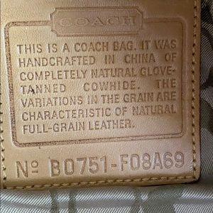 Coach Bags - Coach Tanned Leather Shoulder Purse